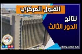 العراق .. رابط نتائج القبول المركزي لطلبة الدور الثالث 2021