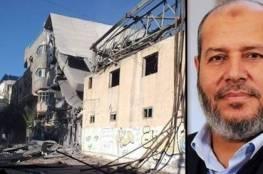 طائرات الاحتلال تدمر منزل نائب رئيس حركة حماس بغزة