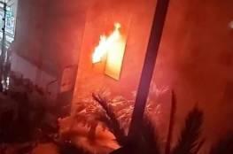 4 إصابات اختناقًا إثر حريق شمال قطاع غزة