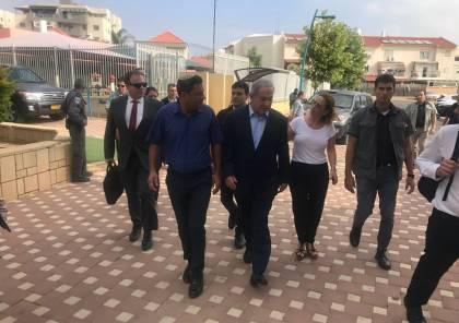 """نتنياهو خلال زيارة غلاف غزة: """" لا يوجد وقف إطلاق نار يستثني الطائرات والبالونات الحارقة"""
