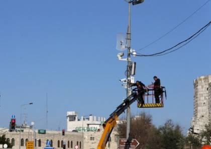 نصب كاميرات مراقبة جديدة للاحتلال بالبلدة القديمة بالخليل