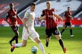 بايرن ميونخ يتعثر أمام فرانكفورت في الدوري الألماني...فيديو