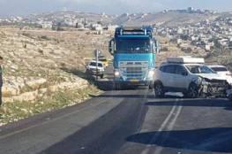 إصابة ثلاثة مواطنين في حادث سير شرق بيت لحم