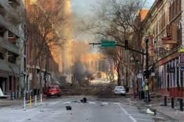 """""""انفجار هائل"""" في وسط مدينة أميركية يرجح أنه بسيارة"""