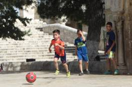 قرار للاحتلال بمنع الأطفال من اللعب بالكرة في ساحات الأقصى