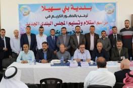 حمدان رضوان يتسلم رئاسة المجلس البلدي الجديد لبلدية بني سهيلا