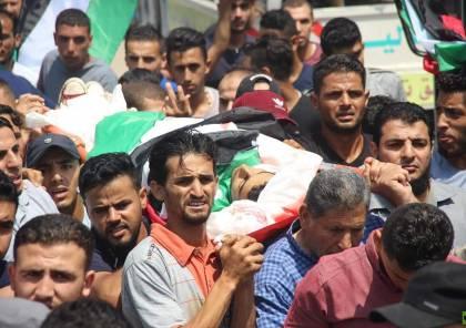 """صور .. الاف الفلسطينيين يشيعون الطفلين """"النمرة وكحيل"""" في غزة"""