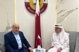 تفاصيل اجتماع السفير العمادي مع رئيس متابعة العمل الحكومي بغزة