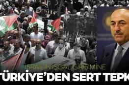 """تركيا: ضم إسرائيل أراض فلسطينية ينهي آمال السلام.. وعلى الدول الإسلامية """"عدم الصمت"""""""