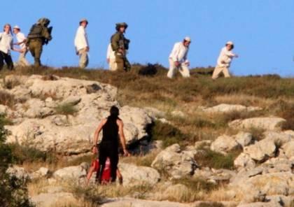 مستوطنون يقتحمون قرية ظهر المالح في منطقة يعبد