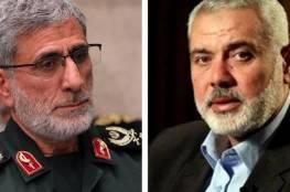 """هنية يتلقى اتصالًا من قائد فيلق القدس في"""" الحرس الثوري الإيراني"""""""