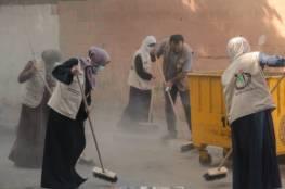 تنظيم حملات تطوعية لتنظيف شوارع خان يونس
