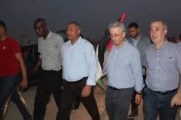 البرغوثي يشارك بمسيرات غزة