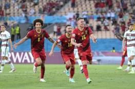 """بلجيكا تجرد البرتغال من اللقب وتتأهل لربع نهائي """"يورو 2020""""..فيديو"""