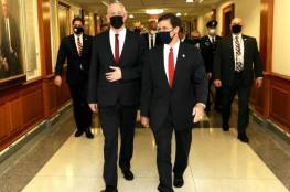 غانتس يتوجه إلى واشنطن للقاء وزير الدفاع الأمريكي مارك اسبر