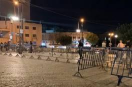 الاحتلال ينشر حواجز معدنية بمنطقة باب العامود في القدس المحتلة