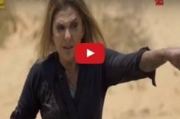 فيديو: نادية الجندي تدخل في حالة هستيريا مع رامز جلال وتضربه !