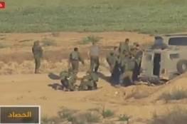 مشاهد تعرض لاول مرة .. فيديو.. الجزيرة تبث فضيحة لجيش الاحتلال في محيط غزة