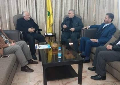"""البطش يبحث مسيرات العودة مع """"حزب الله"""" في بيروت"""