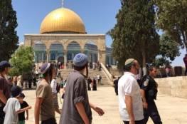 مستوطنون ينفذون اقتحامات استفزازية للمسجد الأقصى
