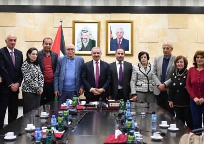 """تفاصيل لقاء وفد """"فدا"""" برئاسة صالح رافت ورئيس الوزراء اشتيه"""