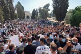 الفلسطينيون ينتفضون لرسول الله في المسجد الأقصى (فيديو)