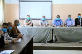 مدير تعليم خان يونس يجتمع برؤساء لجان الثانوية العامة