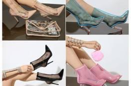 """""""الأحذية الشفافة"""" تتربع على عرش موضة أحذية 2017"""