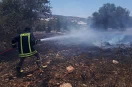 الدفاع المدني يخمد 13 حريقاَ في جنين