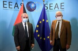 تفاصيل اجتماع اشتيه مع جوزيب بوريل: الانتخابات وحصار غزة والانتهاكات الاسرائيلية