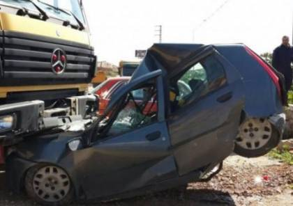 إصابة خمسة مواطنين في حادثي سير منفصلين في جنين