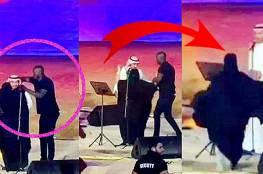 فيديو: سعودية منقبة تقتحم خشبة المسرح وتحتضن ماجد المهندس