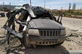 شاهد: طائرات الاحتلال تستهدف سيارة على الحدود اللبنانية السورية ونجاة ركابها