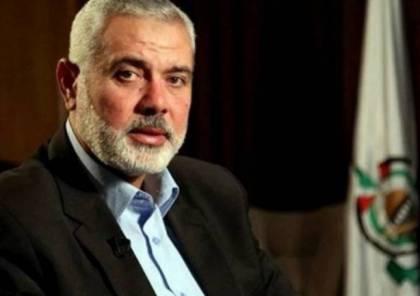 حماس تكشف تفاصيل لقاءات رئيس مكتبها السياسي هنية بالفصائل الفلسطينية في بيروت