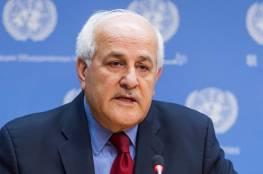 منصور يؤكد ضرورة رفض المجتمع الدولي لمحاولات إسرائيل تشويه النقد المشروع لجرائمها