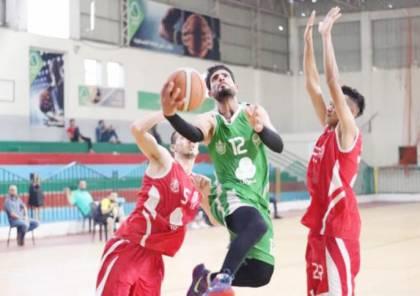 مباراة فاصلة بين المغازي ورفح في كأس السلة اليوم