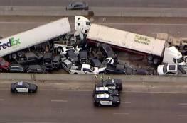 عشرات الضحايا والإصابات إثر اصطدام نحو 100 سيارة بولاية تكساس الأمريكية(فيديو وصور)
