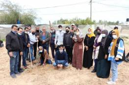 الإغاثة الزراعية تحيي يوم الأرض بحملة تشجير وسط قطاع غزة
