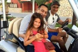 أحدث صورة لمبارك مع ابنه وحفيدته خلال إجازة الصيف