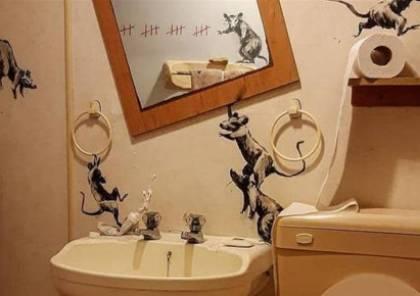"""رجل يحوّل حمامه الخاص الى لوحة فنية بسبب """"كورونا"""""""