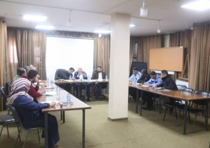 بلدية النصيرات تناقش خطة نقل البسطات العشوائية من الشوارع العامة