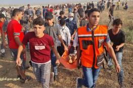 41 اصابة منها حالتين حرجة جراء قمع الاحتلال للمتظاهرين شرقي غزة