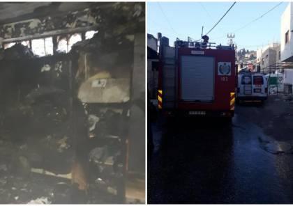 إخماد حريق بمنزل في مخيم جنين