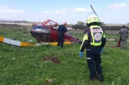 إصابة 4 إسرائيليين في تحطم مروحية شمال البلاد