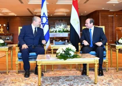 الرئاسة المصرية تكشف تفاصيل اجتماع السيسي مع رئيس وزراء اسرائيل