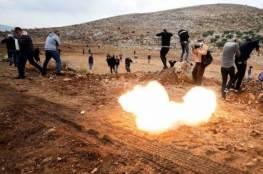 إصابات بقمع الاحتلال مسيرة سلمية في بيت دجن