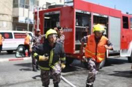 السيطرة على حريق بسبب اشتعال إسطوانة غاز في جنين