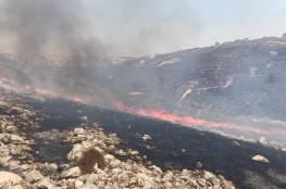 """اندلاع حريق في مستوطنة """"يتسهار"""" قرب نابلس"""