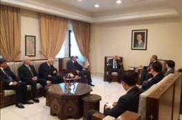 تفاصيل لقاء وفد من منظمة التحرير برئاسة الاحمد ونائب وزير الخارجية السوري