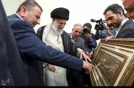 خلال لقائه خامنئي ..العاروري : حماس تقف في الخط الامامي في الدفاع عن ايران